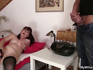 Hot mother in law rides his cock