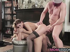 Melanie Gold showed Lully the finer points of sucking cock
