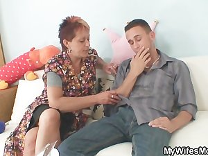 My mother in law seduces me into sex