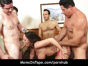 Sweet suburban wife gangbanging her brains out