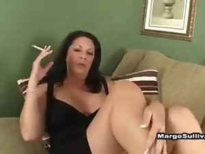 margo lights another one for her perverted son enjoy...