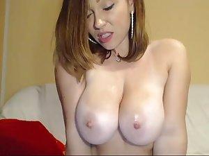 Step mom sucking on her big dildo LIVE