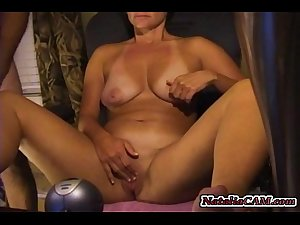 Mature Mom play online with her dildo and step son = Nataliacam.com