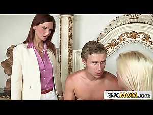 Horny Syren Demer Blackmails Stepson and His Girlfriend Jessie Volt..