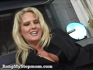 Blonde MILF Rides Her Stepson&#039_s Big Cock!