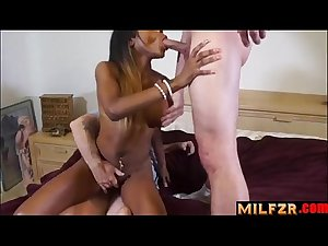 Dad and son fucked mom together