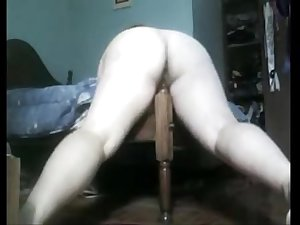 Fat Mom fucks foot of the bed. More videos on  http://fuck.69.mu