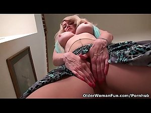 American milf Eva Griffin fingers her nyloned wet pussy 720p More..