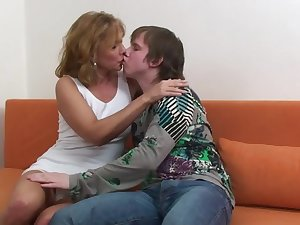 Koko - czech blonde mature and young boy