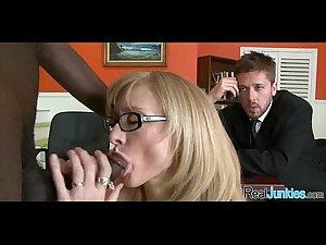 Watching mom fuck a black guy 371
