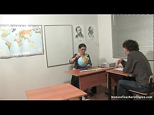 Russian mature teacher 5 - Irina (geography lesson)