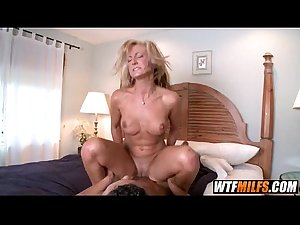 Blonde stepmom fucks young stud 5