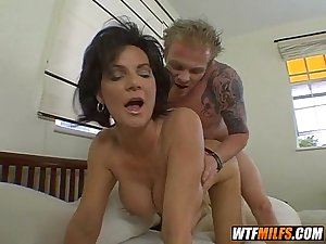 2 milfs enjoy young stiff cock 3