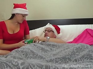 Melanie Hicks in Auntie&#039_s Christmas Gift- MILF aunt fucks..