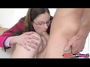 Mommy fucks daughter and boyfriend Samantha Ryan, Chloe Foster  75