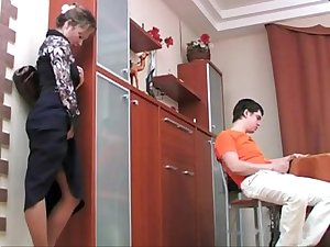 Russian Step Mom Fucks her Son P-1