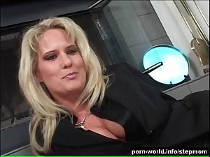 Blonde Sexpot Rides Her Stepson&#039_s Big Cock